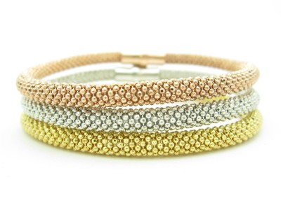silver tri diamond stackable gift italian tp sterling gold itm bracelet yellow design mesh cut