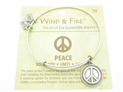 Wind and Fire Sweet 16 Charm Wire Bangle Stackable Bracelet Made In USA Gift
