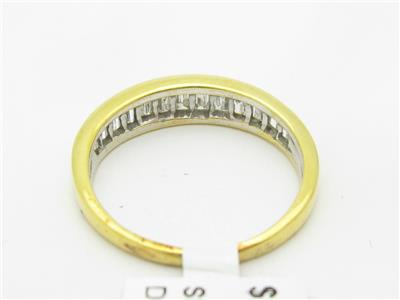 14k Yellow Gold & Diamond Baguette Channel Set Wedding Band Design