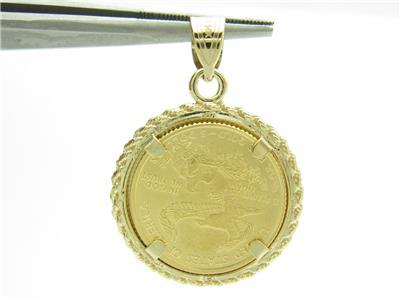 Standing Lady Liberty 5 Dollar 1 10 Oz 999 Fine Gold Coin Bullion Charm Pendant Ebay