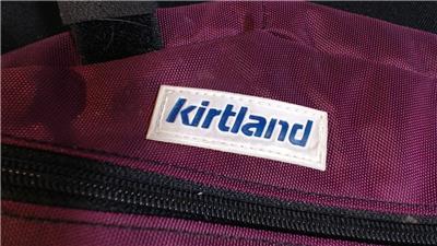 Vtg KIRTLAND Bike Bag Holds Mini Pump Tire Repair Kit Tube Tool Pack Cycling