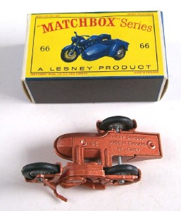 Matchbox Lesney 66 Harley Davidson Motorcycle 1962 MIB