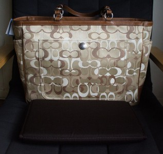 0974af13ff538d new coach khaki optic c signature multi baby diaper bag on PopScreen