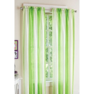 New Your Zone Crushed Ombre Curtain Panel Limegreen Ebay
