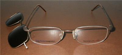 ddfea13610 Flexon Magnetics 806 MAG-SET Clip-on Mens Eyeglasses Rx Frames 52MM Light  Bronze