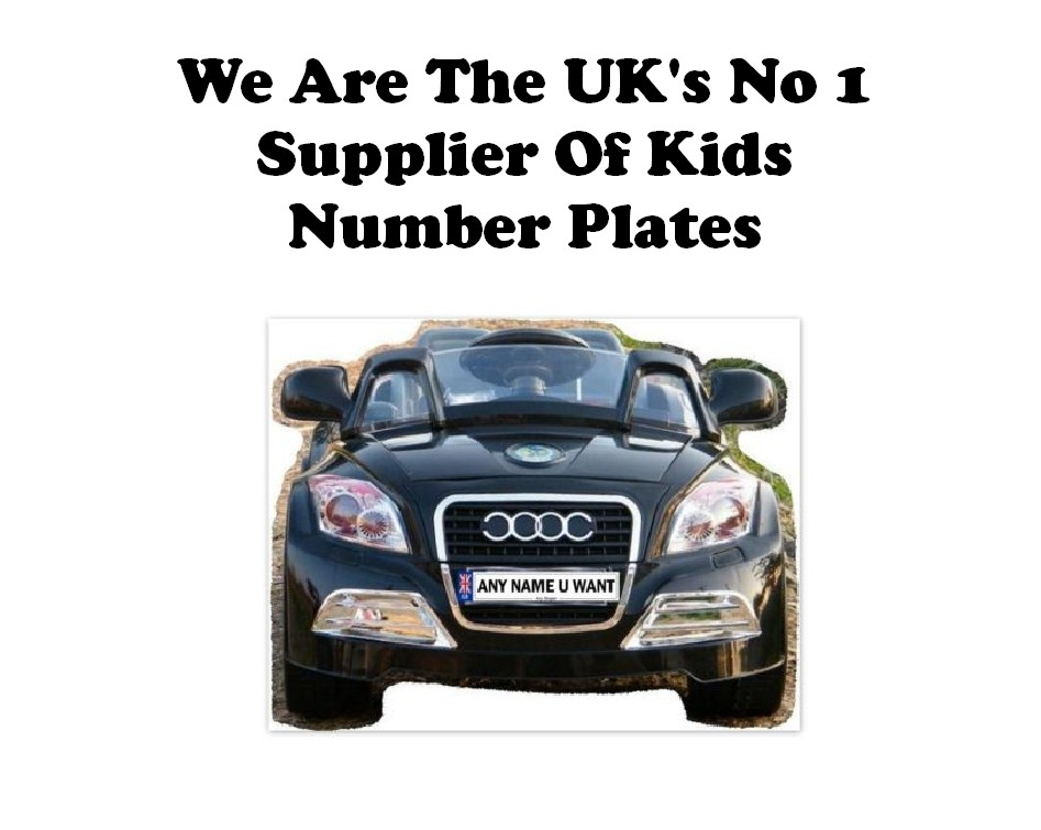 Personalised Number Plate For Kids Ride On Car Ebay