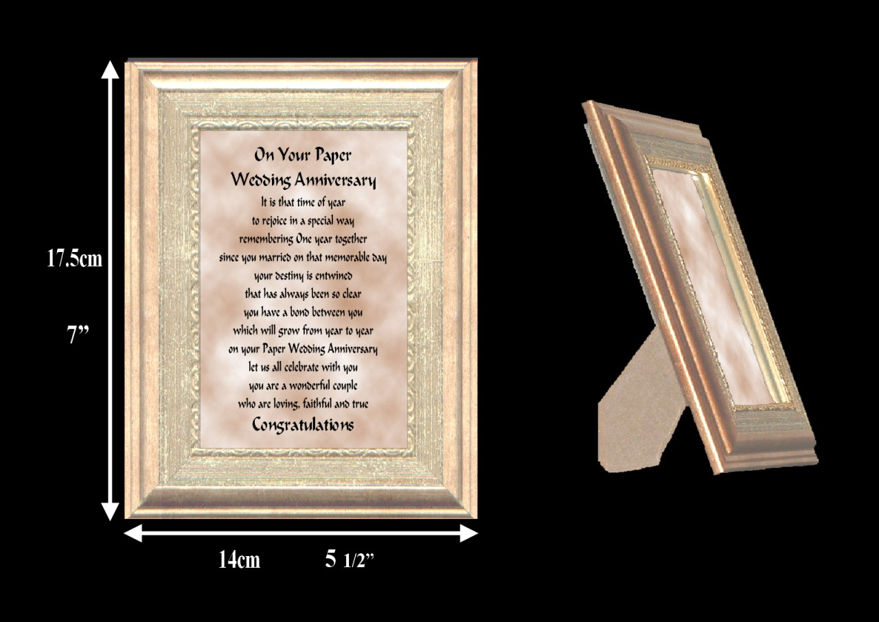 24 Wedding Anniversary Gift: 1ST TO 24TH YOUR WEDDING ANNIVERSARY VERSE FRAME GIFT FREE