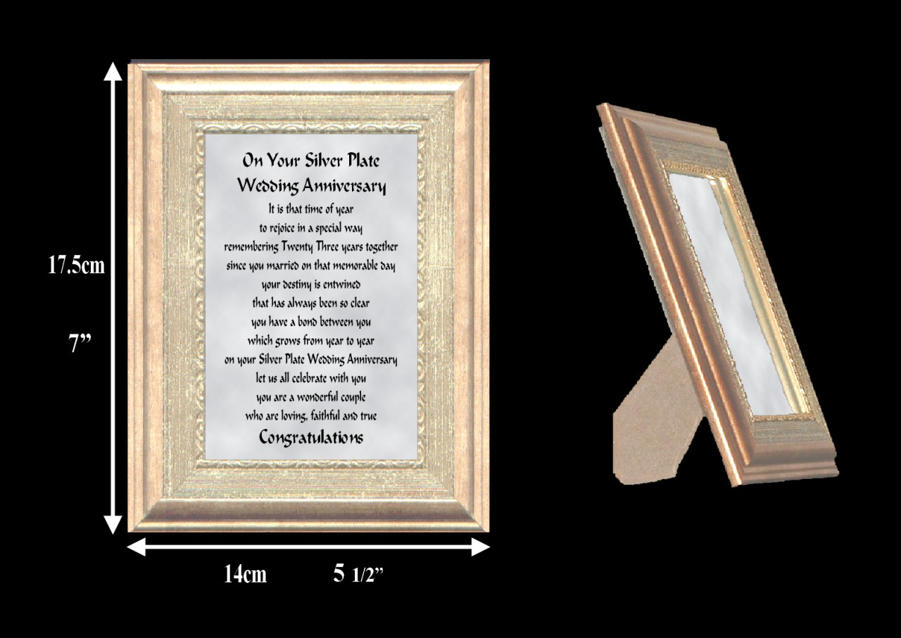 24th Wedding Anniversary Gift Ideas: 1ST TO 24TH YOUR WEDDING ANNIVERSARY VERSE FRAME GIFT FREE
