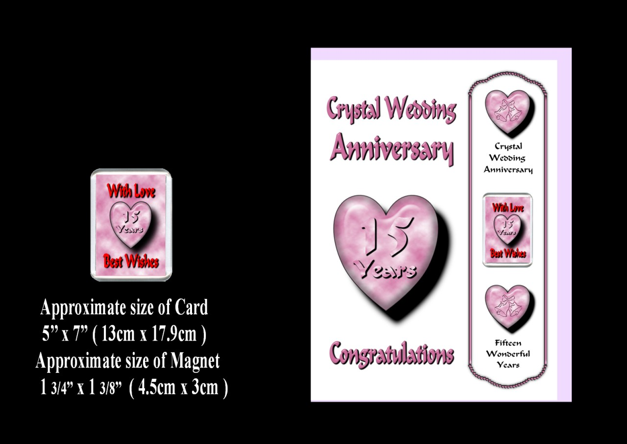 Wedding Anniversary Gift For Friends: 1st 24th Years Your Wedding Anniversary Card Magnet Gift