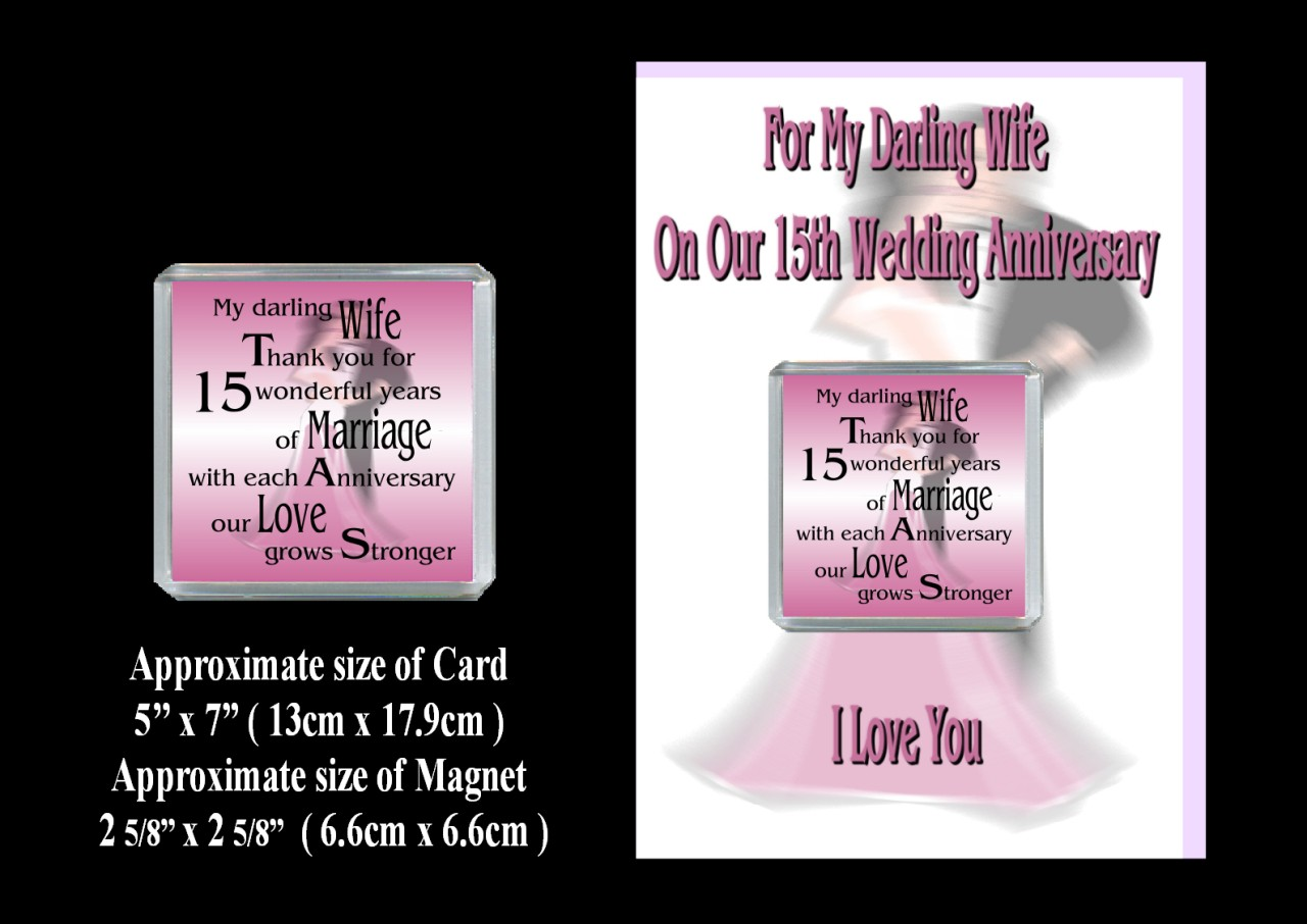1st Wedding Anniversary Gift For Wife: WIFE 1ST TO 24TH OUR WEDDING ANNIVERSARY CARD & MAGNET