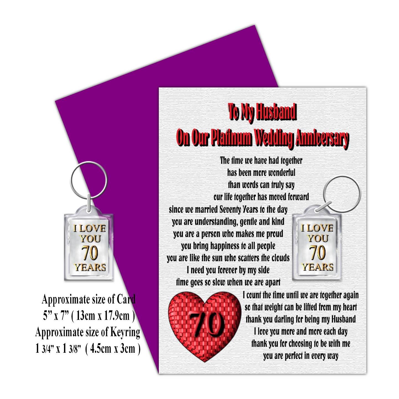 Wedding Anniversary Gifts To Husband: HUSBAND 25TH TO 70TH OUR WEDDING ANNIVERSARY CARD