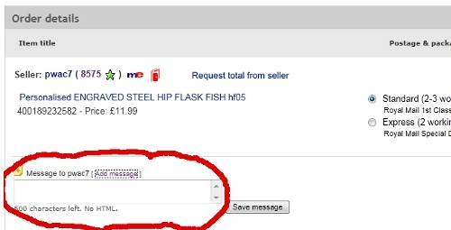 how to send paypal details to buyer