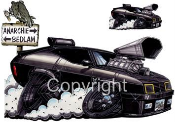 Mad Max Interceptor Muscle Car Cartoon Tshirt 9226 Movie Automotive