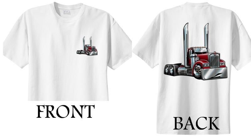 Kenworth Big Rig Semi Truck cartoontees Tshirt 2015 Freight Hauler