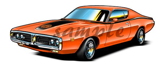 1971 Dodge Super Bee Muscle Car Cartoon T Shirt Nc1971 Automotive