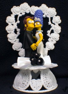 homer and marge simpson wedding cake topper y homer marge simpsons wedding cake topper lot glasses 15306