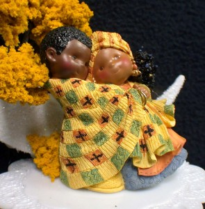 how to make a wedding cake at home colorful ethnic black american wedding cake topper 15881