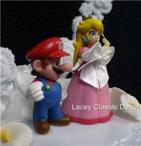 mario wedding cake topper nintendo mario princess wedding cake topper top 17154