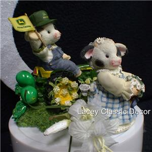 john deere wedding cake toppers moo deere tractor wedding cake topper top 1 ebay 16604