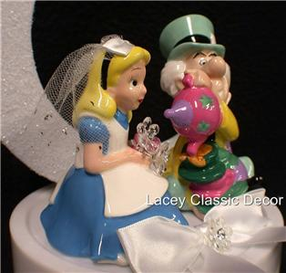 wedding cake toppers alice in wonderland in tea wedding cake topper cup ebay 26376