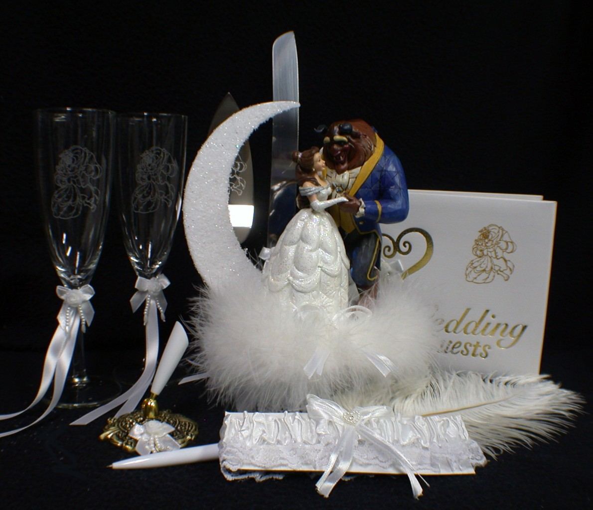 beauty and the beast wedding cake topper rose disney amp the beast wedding cake topper lot glasses 11250
