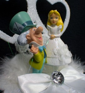 alice in wonderland wedding cake toppers in mad hatter wedding cake topper new ebay 10671