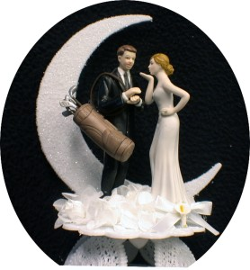 wedding cake toppers bride and groom golf golfing groom loving golf wedding cake topper lot 26410