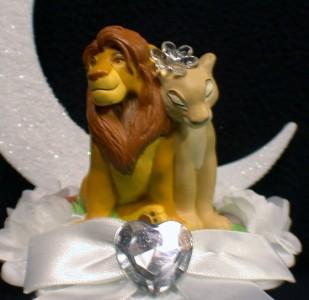 Lion King Disney Wedding Cake Topper Lot Gles Knife Set Book Pen Garter