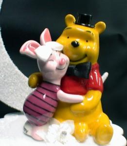 Piglet Bride Winnie The Pooh Groom Wedding Cake Topper Your My Honey Always