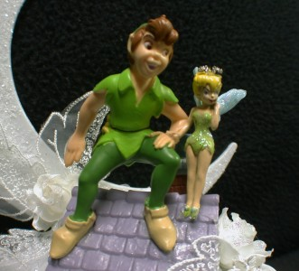 peter pan wedding cake topper disney tinkerbell pan wedding cake topper lot 18308