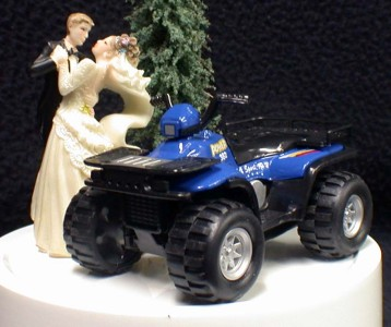atv wedding cake topper atv road 4 wheeler outdoor sports wedding cake 10890