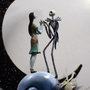 Items Similar To Nightmare Before Christmas Wedding Cake Topper Jack Bride Groom And