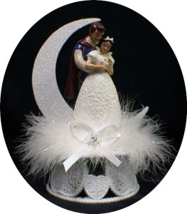 disney princess snow white prince charming wedding cake topper