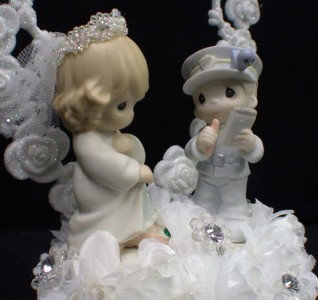 precious moments police wedding cake topper quot ticket of quot precious moments wedding cake 18712