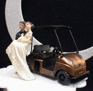 funny golf themed wedding cake toppers golf cart lover golfing groom cheering wedding cake 14545