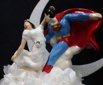 superman wedding cake toppers superman clark amp lois wedding cake topper 20622