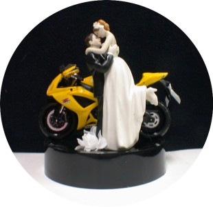 motorcycle wedding cake toppers uk yellow bike motorcycle wedding cake topper 17616