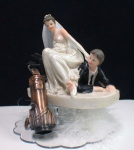 wedding cake toppers bride and groom golf lets go golf loving golfing dragging groom wedding 26410