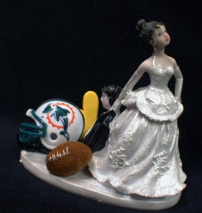 miami dolphin wedding cake toppers nfl miami dolphins football wedding cake topper 17330