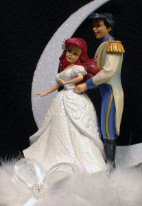 disney fairytale wedding cake server disney mermaid prince fairytale wedding cake topper 13552