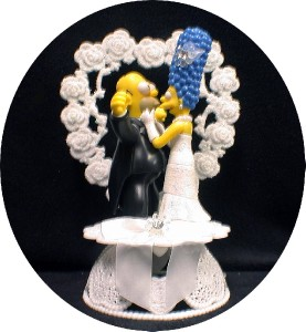 homer and marge simpson wedding cake topper o homer marge simpsons wedding cake topper lot glasses ebay 15306