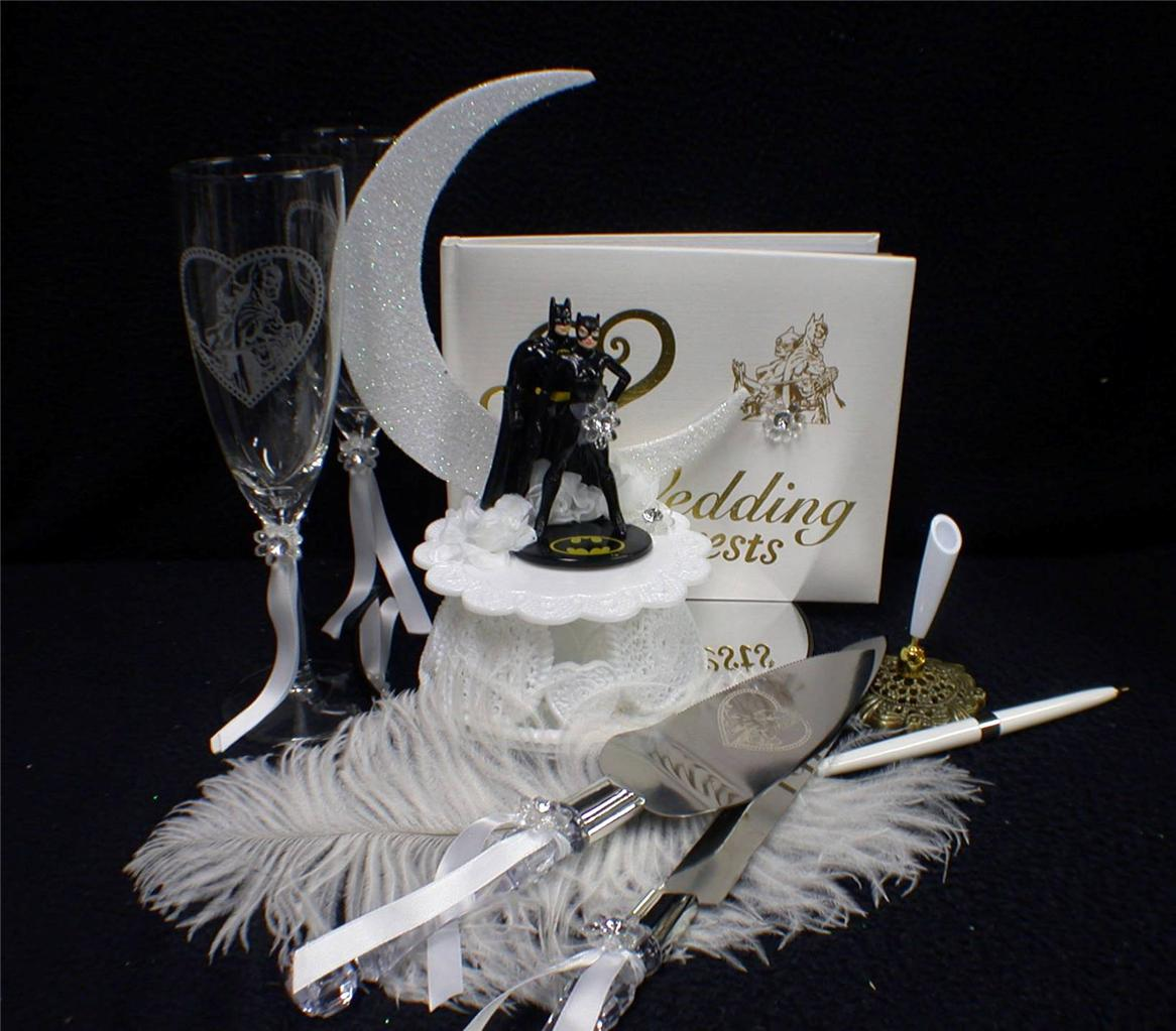 batman and bride wedding cake topper uk batman amp catwomen wedding cake topper lot glasses server 11114