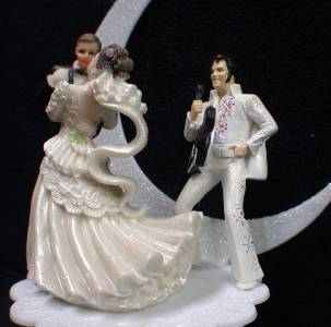 elvis wedding cake topper elvis king las vegas wedding cake topper 14010