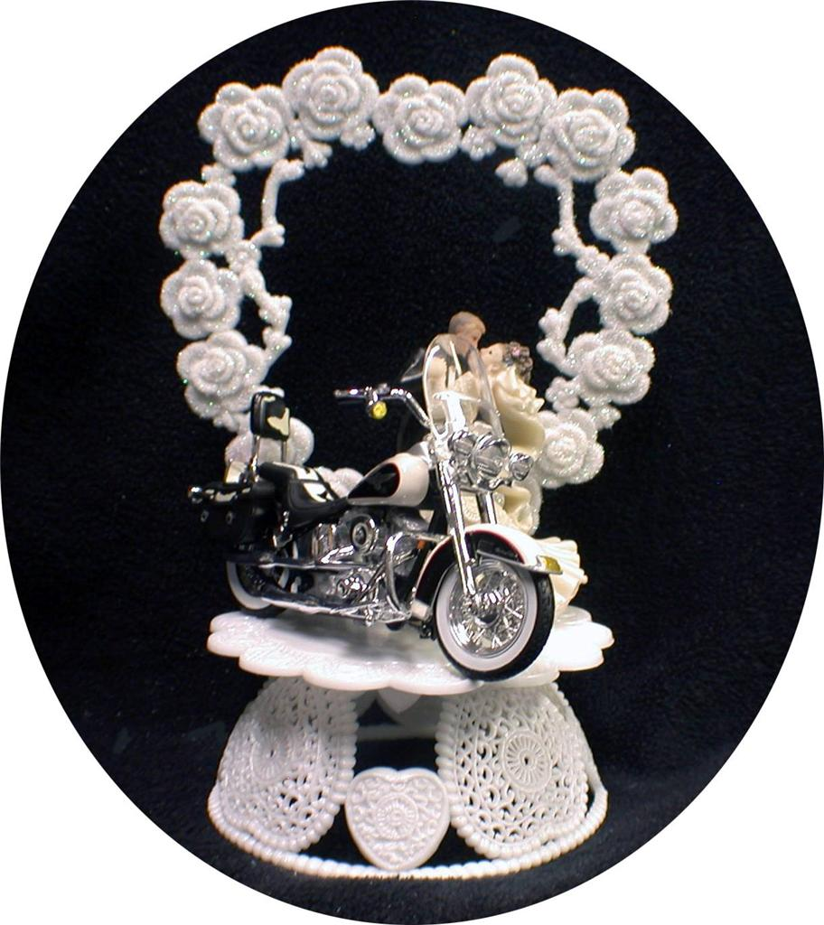 wedding cake topper harley davidson motorcycle wedding cake topper w diecast heritage softail harley 26335