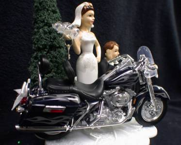 harley davidson wedding cake topper uk wedding cake topper w diecast harley davidson 15079