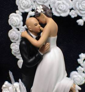 wedding cake toppers bald groom bald groom hair wedding cake topper top you 26387