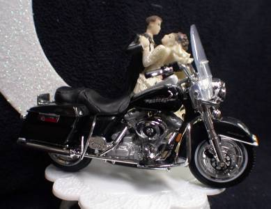 harley davidson road king wedding cake toppers wedding cake topper w diecast black road king harley 15070
