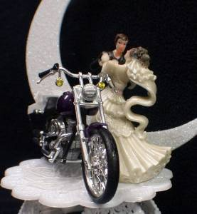 harley davidson wedding cake topper uk wedding cake topper w diecast purple harley davidson 15079