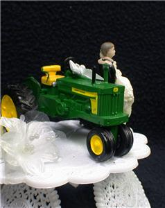 Country Western John DEERE Tractor Wedding Cake Topper Farmer Barn ...