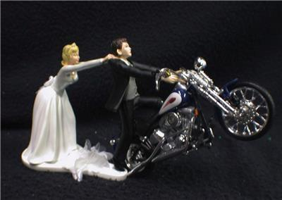 harley davidson wedding cake topper uk motorcycle wedding cake topper w blue harley 15079